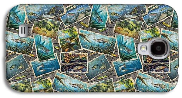 Jon Q Wright Fish Paintings Bedding Galaxy S4 Case by Jon Q Wright