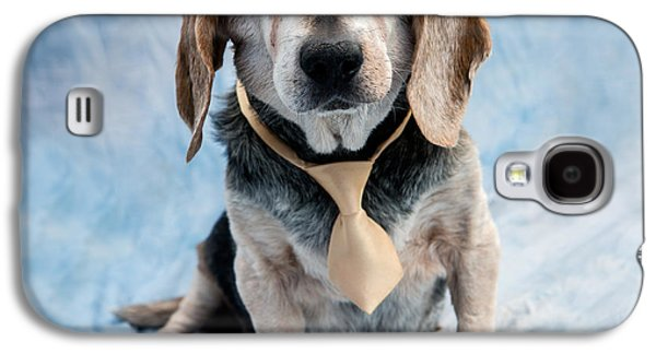 Kippy Beagle Senior And Best Dog Ever Galaxy S4 Case by Iris Richardson