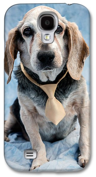 Dog Galaxy S4 Case - Kippy Beagle Senior by Iris Richardson
