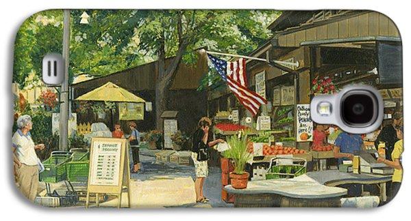 Kirkwood Farmers Market American Flag Galaxy S4 Case by Don  Langeneckert
