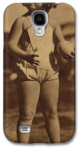 Lawn Bowling With Shirley Temple Galaxy S4 Case by Pierponit Bay Archives