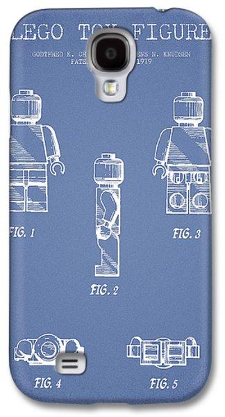 Lego Toy Figure Patent - Light Blue Galaxy S4 Case