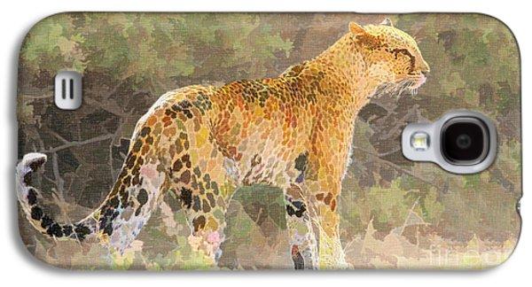 Leopard Galaxy S4 Case by Liz Leyden