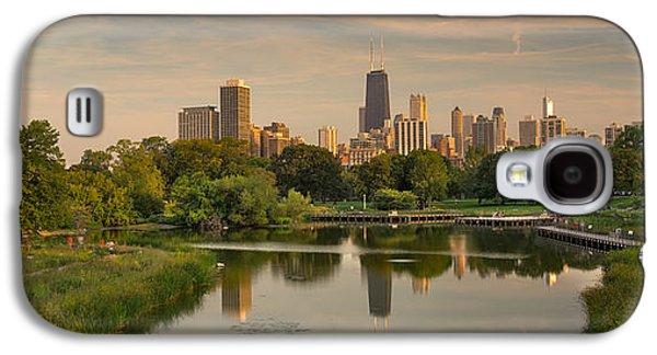 City Sunset Galaxy S4 Case - Lincoln Park Lagoon Chicago by Steve Gadomski