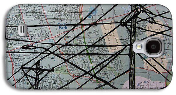 Lines On Map Galaxy S4 Case