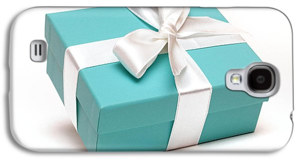 Little Blue Gift Box Galaxy S4 Case by Amy Cicconi