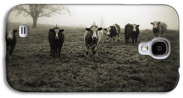 Cow Galaxy S4 Case - Livestock by Les Cunliffe