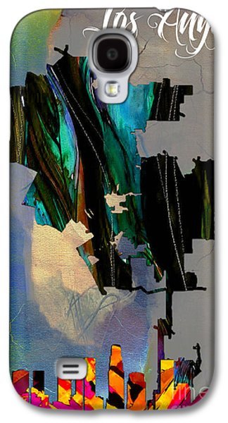 Los Angeles Map And Skyline Galaxy S4 Case