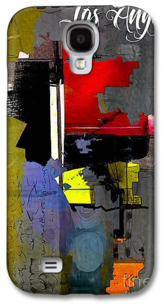Los Angeles Map Watercolor Galaxy S4 Case by Marvin Blaine