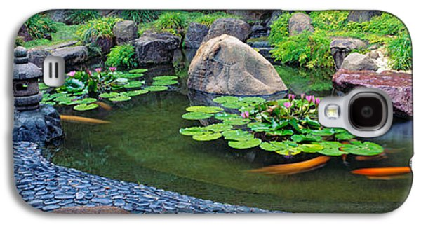 Lotus Blossoms, Japanese Garden Galaxy S4 Case by Panoramic Images