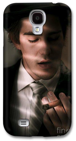 Male Private Eye Investigator Solves Puzzle Galaxy S4 Case
