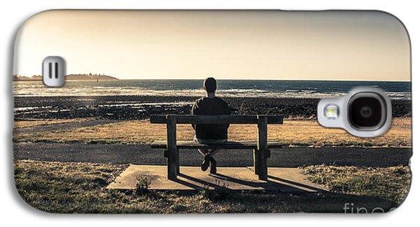 Man Watching Australian Sunset On Park Bench Galaxy S4 Case by Jorgo Photography - Wall Art Gallery
