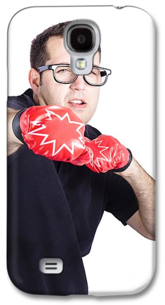 Man With Boxing Gloves Galaxy S4 Case