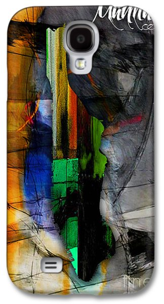 Manhattan Map Watercolor Galaxy S4 Case