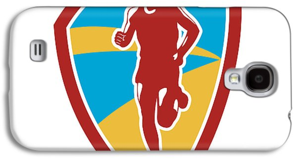 Marathon Runner Shield Retro Galaxy S4 Case by Aloysius Patrimonio