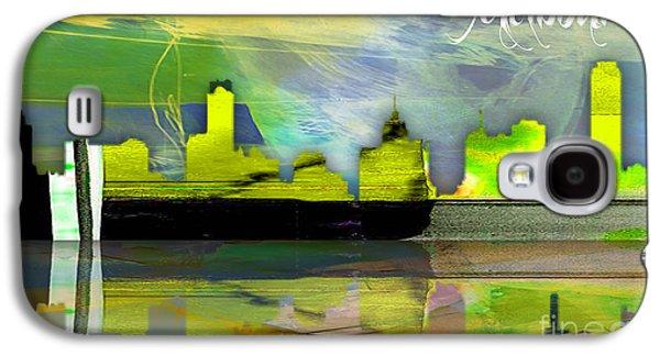 Melbourne Australia Skyline Watercolor Galaxy S4 Case
