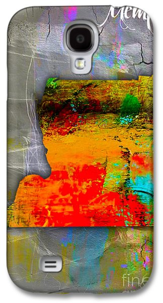 Memphis Map Watercolor Galaxy S4 Case by Marvin Blaine