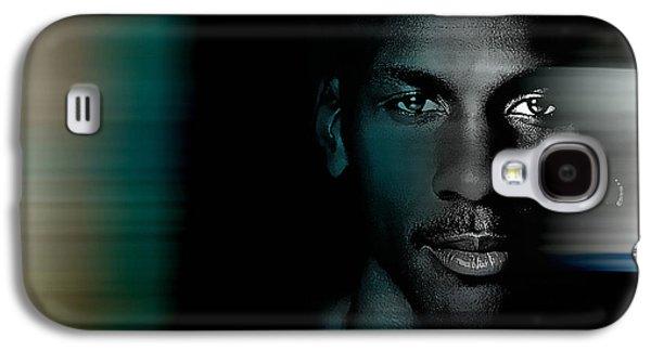 Michael Jordon Galaxy S4 Case by Marvin Blaine