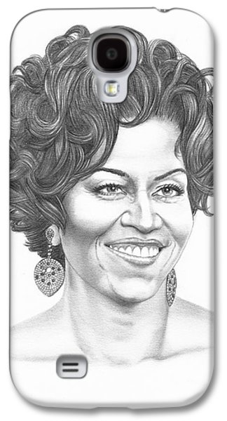 Michelle Obama Galaxy S4 Case by Murphy Elliott