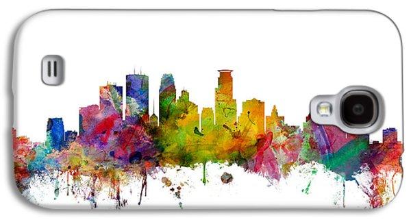 Minneapolis Minnesota Skyline Galaxy S4 Case by Michael Tompsett