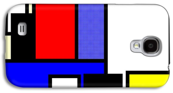 Mondrian Composition Galaxy S4 Case by Celestial Images