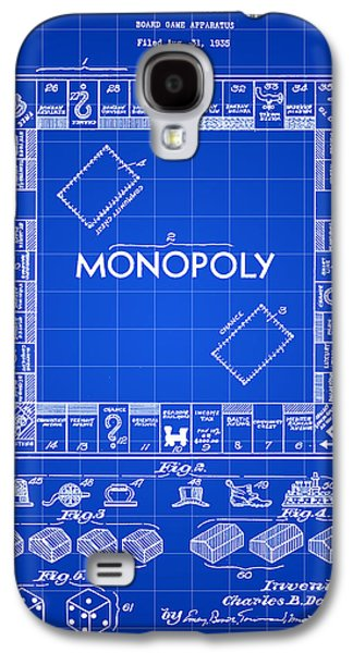 Monopoly Patent 1935 - Blue Galaxy S4 Case by Stephen Younts