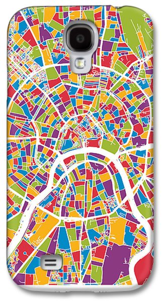 Moscow City Street Map Galaxy S4 Case