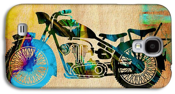 Motorcycle Painting Galaxy S4 Case by Marvin Blaine