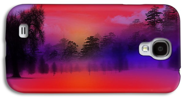Nature Composition In Blue Galaxy S4 Case by Mark Ashkenazi