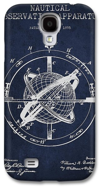 Nautical Observation Apparatus Patent From 1895 - Green Galaxy S4 Case by Aged Pixel