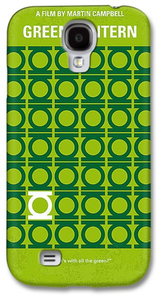 No120 My Green Lantern Minimal Movie Poster Galaxy S4 Case by Chungkong Art