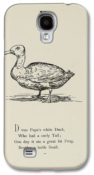 Nonsense Alphabets By Edward Lear Galaxy S4 Case by British Library