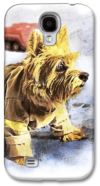 Norwich Terrier Fire Dog Galaxy S4 Case by Susan Stone