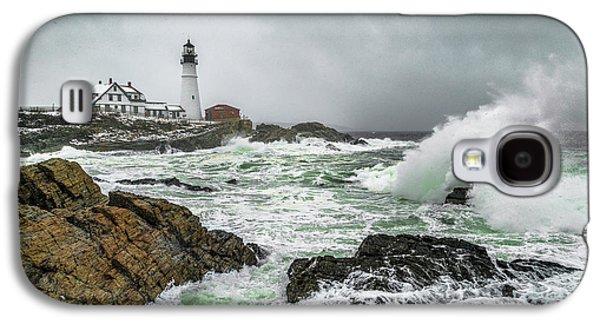 Ocean Storm At Portland Head Galaxy S4 Case