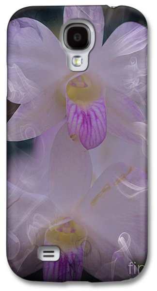 Orchid Ruffles Galaxy S4 Case by Kathleen Struckle