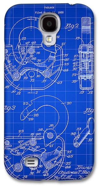 Padlock Patent 1935 - Blue Galaxy S4 Case