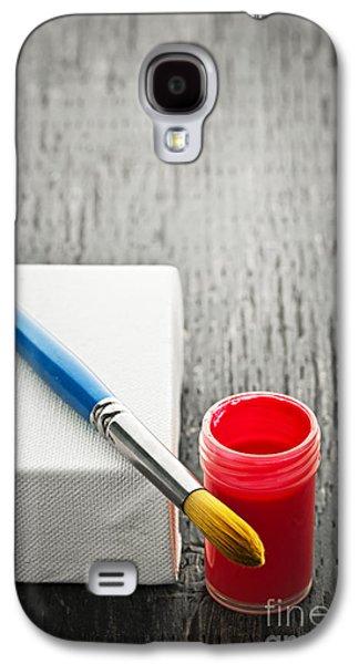 Paintbrush On Canvas Galaxy S4 Case by Elena Elisseeva