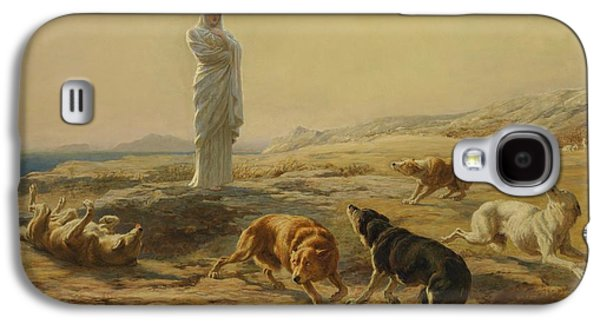 Pallas Athena And The Herdsmans Dogs Galaxy S4 Case by Briton Riviere