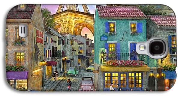 Paris Streets Galaxy S4 Case by Dominic Davison
