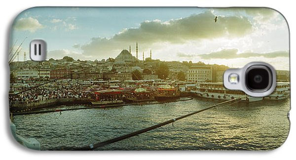 People Fishing In The Bosphorus Strait Galaxy S4 Case by Panoramic Images