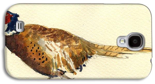 Pheasant Galaxy S4 Case - Pheasant by Juan  Bosco