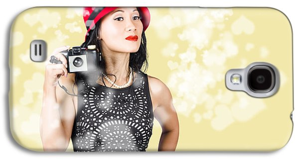 Photographer Taking Photos With Retro Film Camera Galaxy S4 Case by Jorgo Photography - Wall Art Gallery