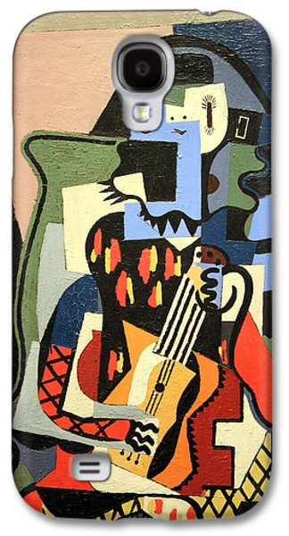 Picasso's Harlequin Musician Galaxy S4 Case by Cora Wandel