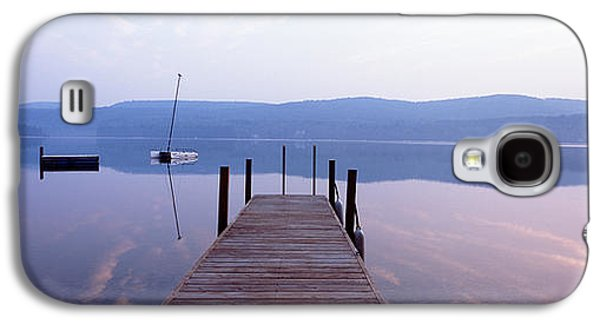 Pier, Pleasant Lake, New Hampshire, Usa Galaxy S4 Case by Panoramic Images