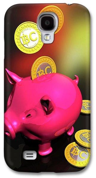 Piggy Bank And Bitcoins Galaxy S4 Case
