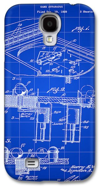 Pinball Machine Patent 1939 - Blue Galaxy S4 Case by Stephen Younts