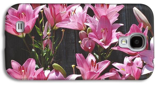 Galaxy S4 Case featuring the photograph Pink Asiatic Lilies by Rod Ismay