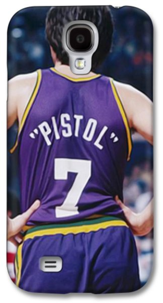 Pistol Pete Maravich Galaxy S4 Case by Paint Splat