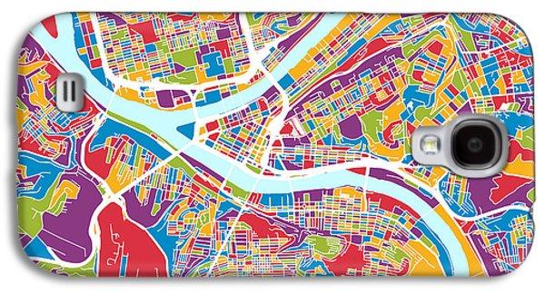 Pittsburgh Pennsylvania Street Map Galaxy S4 Case