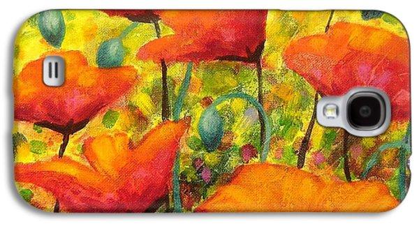 Landscape Greeting Cards Galaxy S4 Cases - Poppy Corner Galaxy S4 Case by John  Nolan